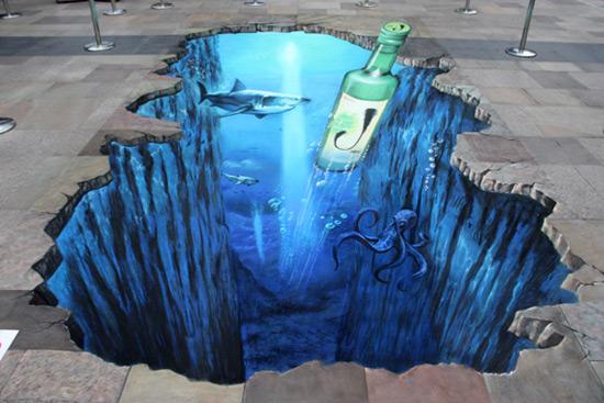 Jinro peinture de la rue 3D