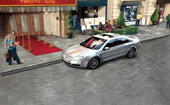Lincoln Mercury TV peinture de la rue 3D