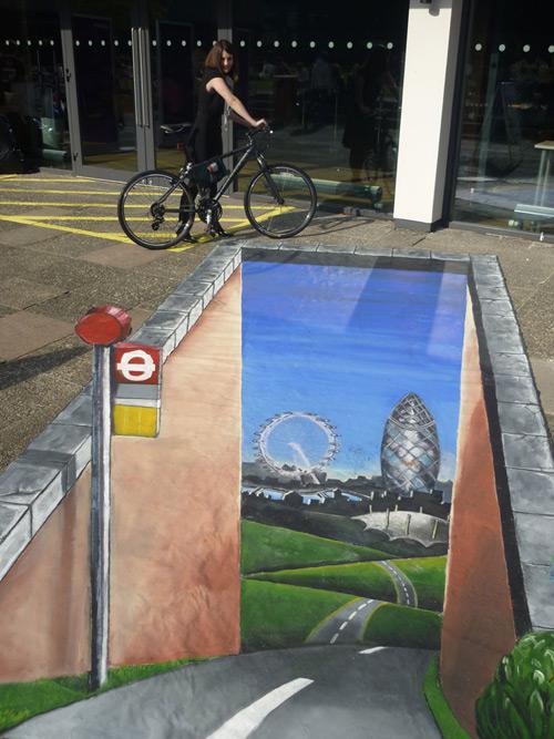 Londres de cette façon peinture de la rue 3D