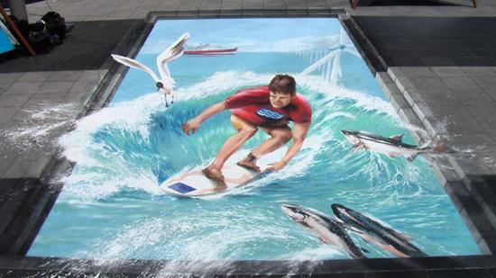 La Semaine Maritime peinture de la rue 3D