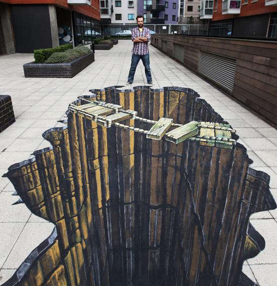 Pont Ropey peinture de la rue 3D