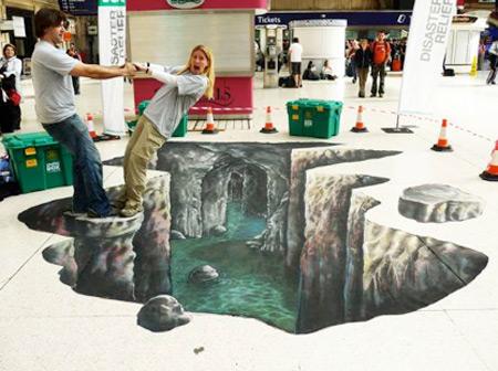 Shelterbox peinture de la rue 3D