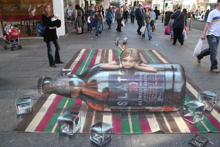 Whisky peinture de la rue 3D