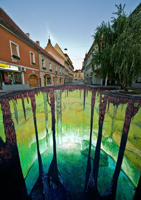 Projet de la 3e cave peinture de la rue 3D