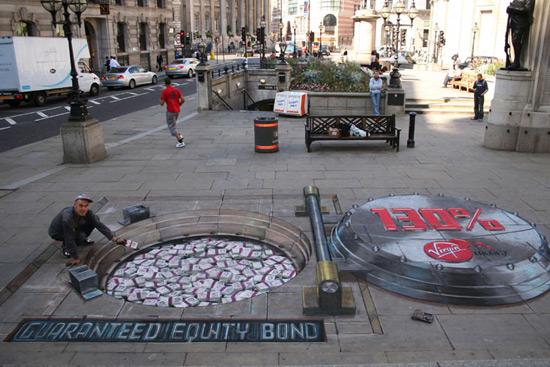 Banque peinture de la rue 3D