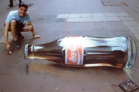 Coke peinture de la rue 3D