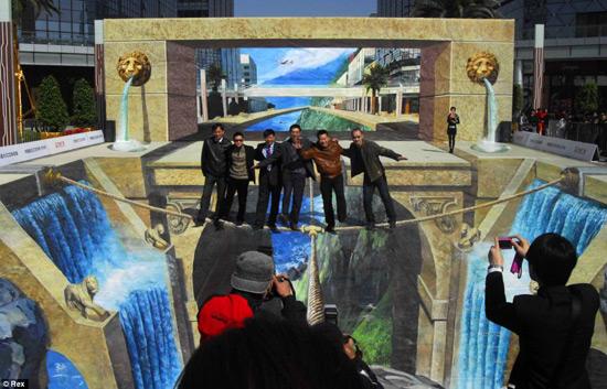 lions gate peinture de la rue 3D