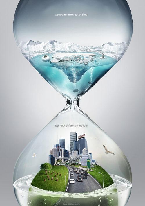 Changements climatiques — Concept de publicité original