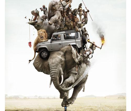 Publicité téléphone Land Rover