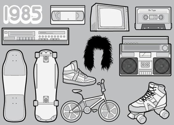 Icônes favoris des années 80