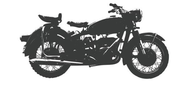 Motocyclette rétro