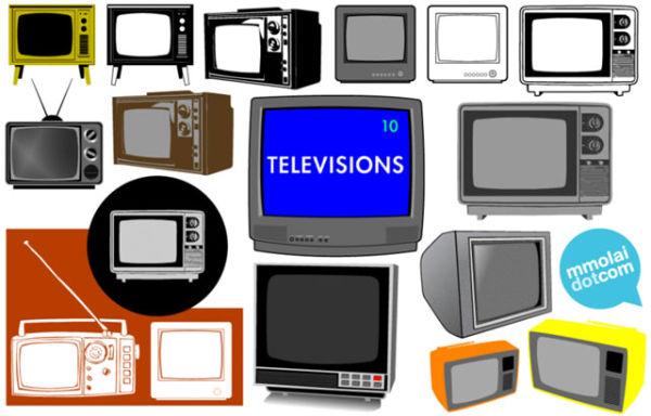 Télévisions en vecteurs