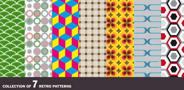 Pattern rétro vectoriel