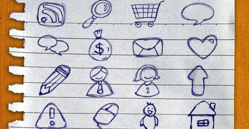 Icônes dessinés