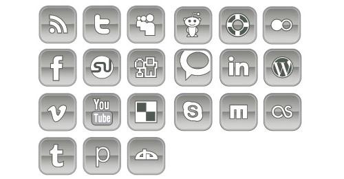 Icônes vectoriels réseaux sociaux