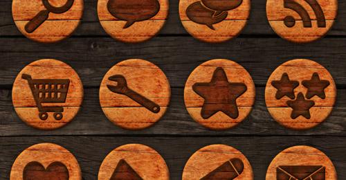 icônes texture bois