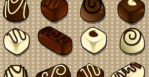 Icônes chocolat