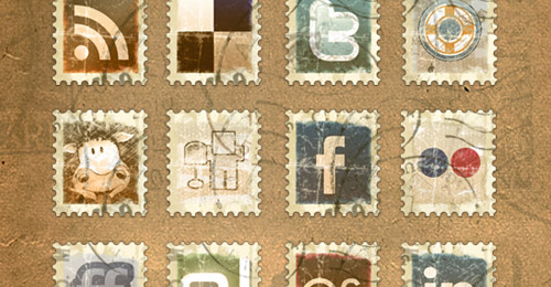 Icones timbres vieillots