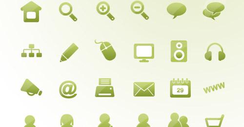 icônes verts