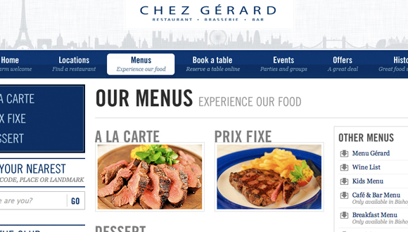 Inspiration site restaurant : Chez Gerard