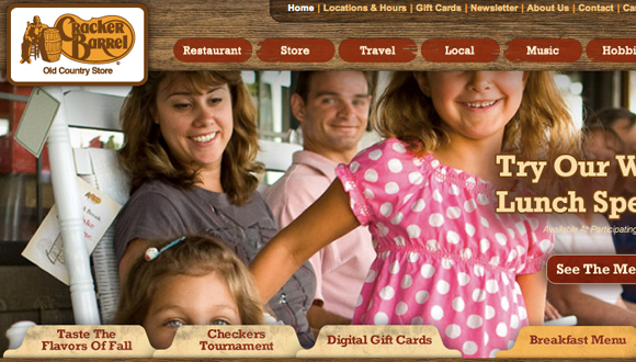 Inspiration site restaurant : Cracker Barrel