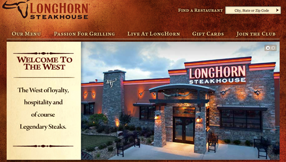Inspiration site restaurant : LongHorn Steakhouse