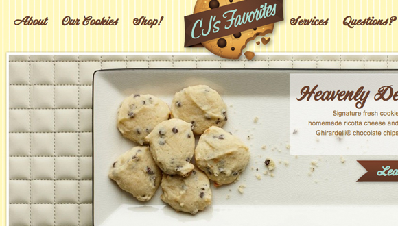 Inspiration site restaurant : CJs Fresh Cookies