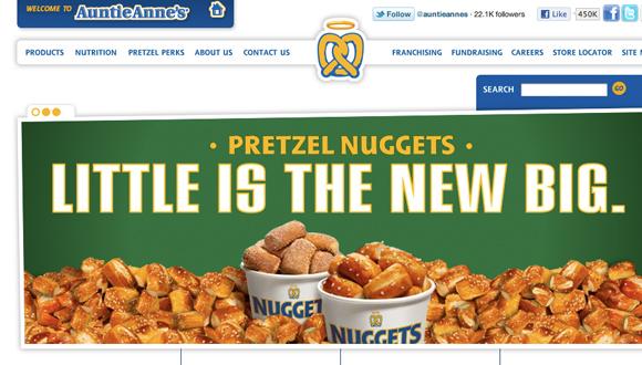 Inspiration site restaurant : Auntie Annes Pretzels
