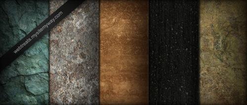 Textures sombres de pierres, de marbes et de pavé