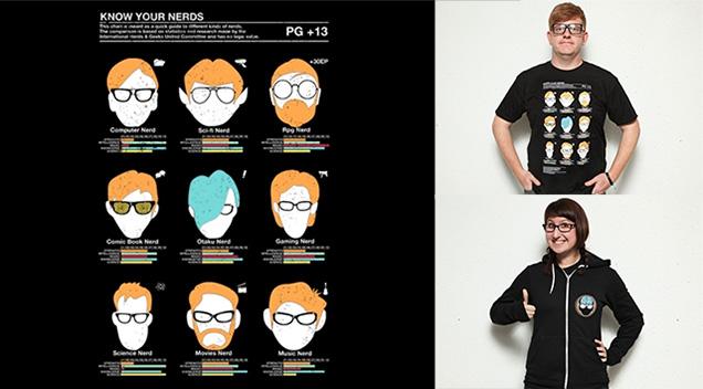 T-Shirt de nerd (geek)