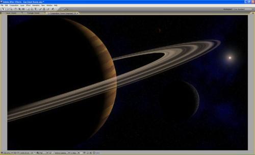 Produire une scène de planète gazeuse géante dans After Effects