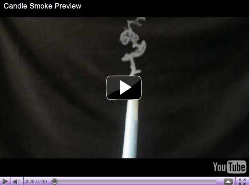 Effet réaliste de fumée de bougie