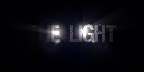 Titre avec effet de lumière qui flashe
