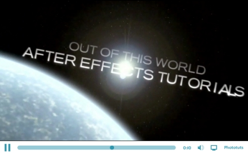 Créer une séquence de titre de science-fiction