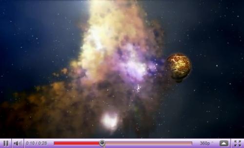 Créer une nébuleuse surréelle dans l'espace