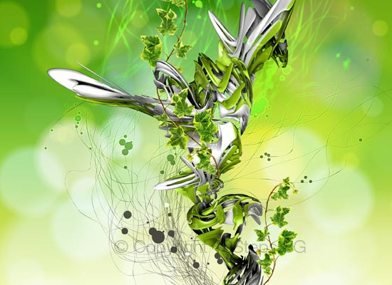 Créer une scène abstraite de différents éléments de la nature