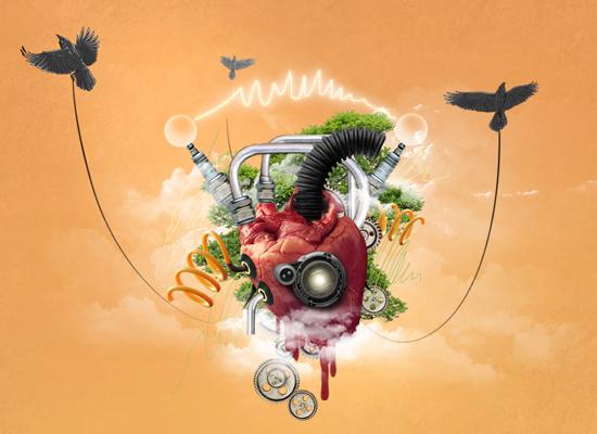 Photoshop : Créer un concept modern avec un coeur