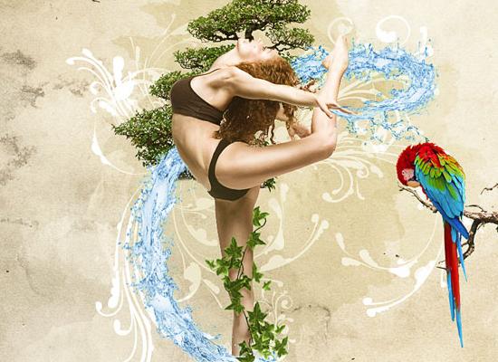 tutoriel pour créer une affiche (poster) dynamique de la nature