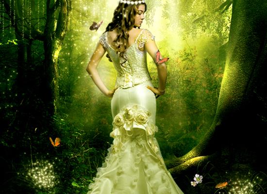 Tutoriel Photoshop pour créer une forêt fantaisiste enchantée