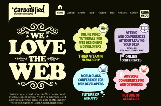 Typographies sur le web 20