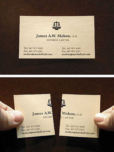 Carte d'affaires Avocat Divorse