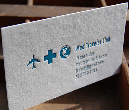 Carte d'affaires med traveler