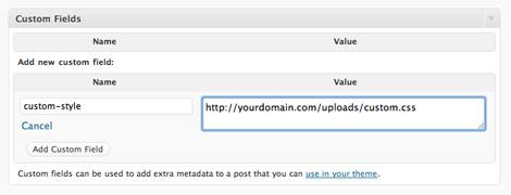 Feuille de style personnalisée WordPress