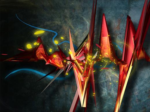 Fond d'écran 3D abstrait et artistiques 1