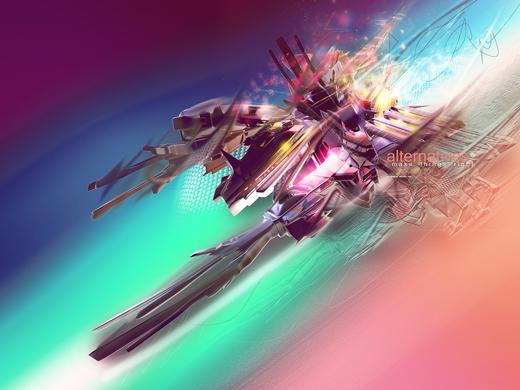 Fond d'écran 3D abstrait et artistiques 23