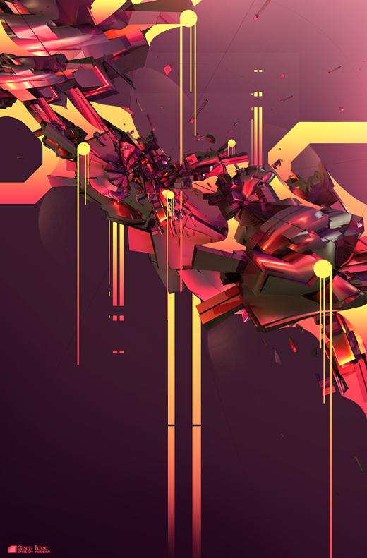 Fond d'écran 3D abstrait et artistiques 24