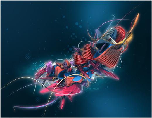 Fond d'écran 3D abstrait et artistiques 29