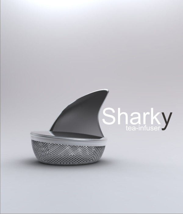 infuseur à thé en requin