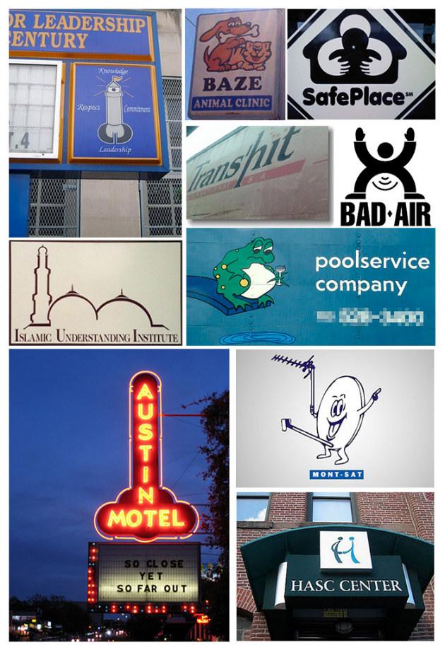 Montage de mauvais logos
