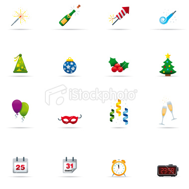 icon-set-new-year-celebrations-color